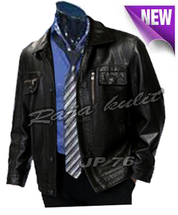 jaket kulit pria trendy