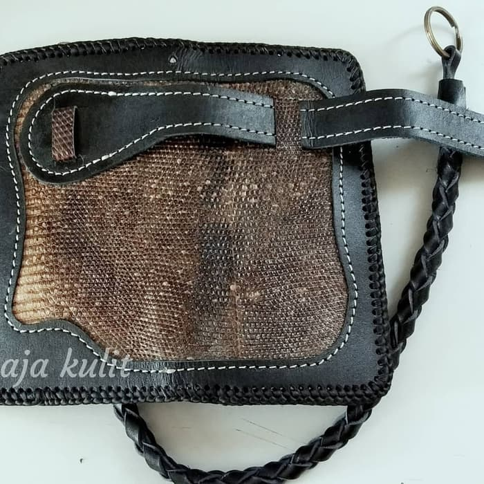 dompet kulit biawak asli