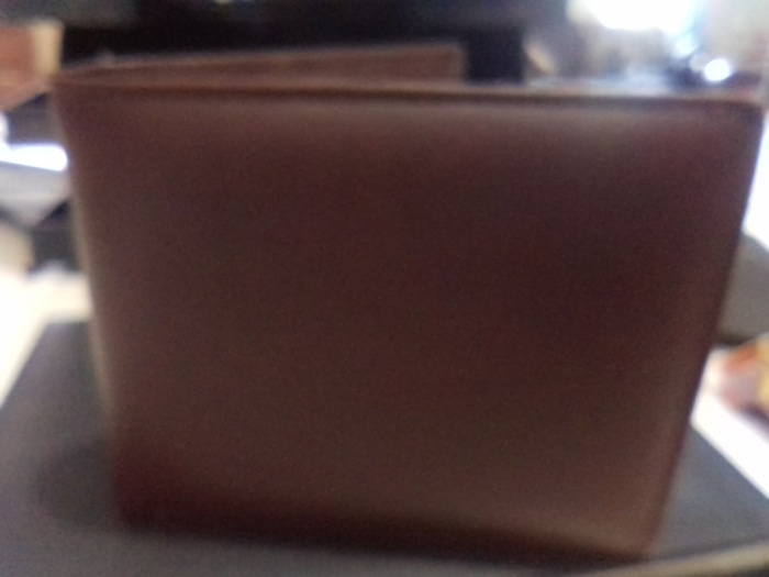 dompet kulit pria coklat pendek 3 dimensi