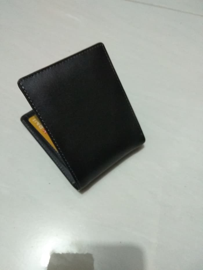 dompet kulit simpel hitam