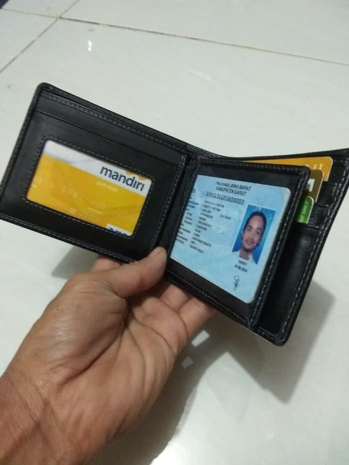model terbaru dompet pendek pria warna hitam