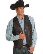 rompi kulit cowboy