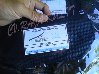 jaket kulit pt.sigur ros indonesia