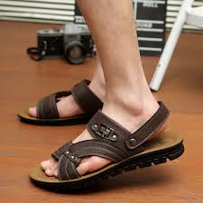grosir sandal-sandal kulit