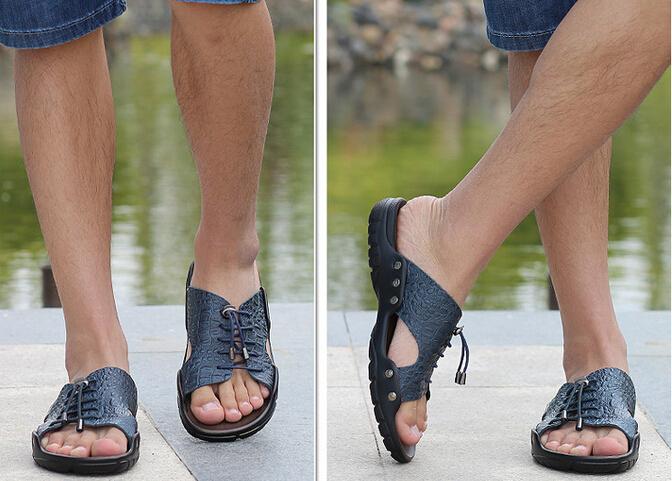 sandal kulit pria  murah