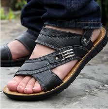 sandal kulit pria ukuran besar