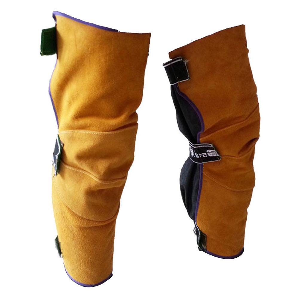 Pelindung lutut untuk welder bahan splitkulit
