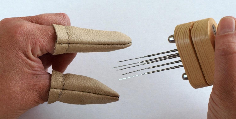 pelindung jari kulit untuk garment
