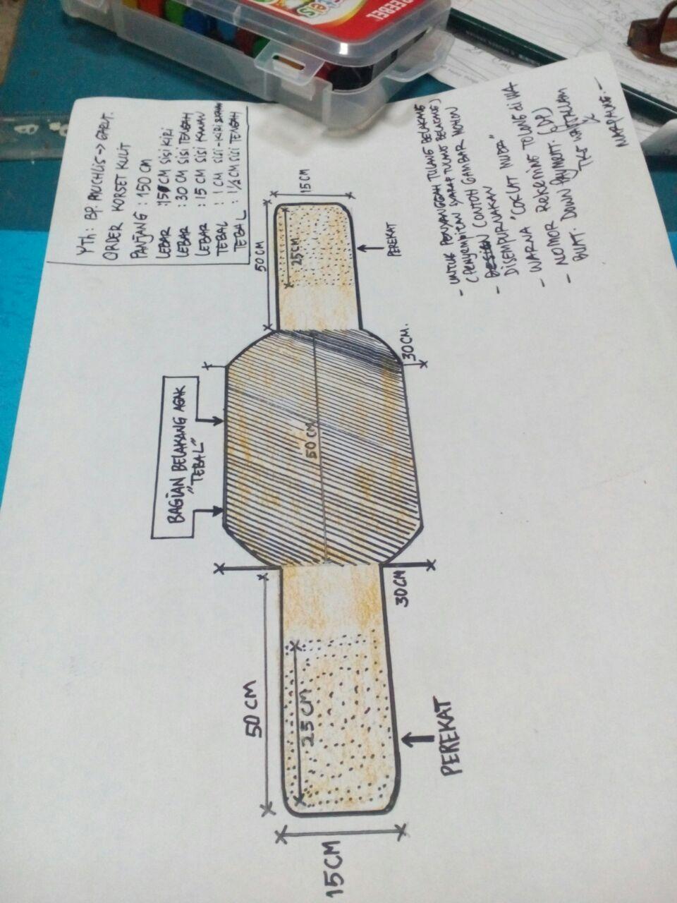pusat korset kulit garut