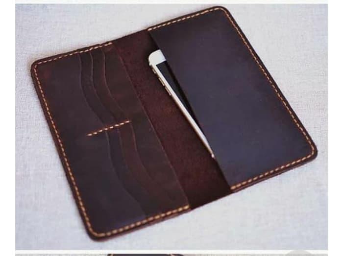 dompet kulit panjang pria simple